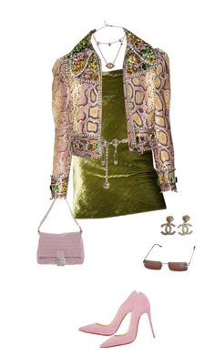 """Untitled #4331"" by kimberlythestylist ❤ liked on Polyvore featuring Versace, Fendi, Christian Louboutin, Chanel and Christian Dior"