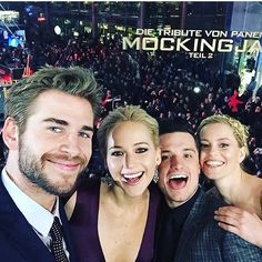 Smile well deserved, Hunger Games fam. You knocked this epic (yes, epic) story out of the park. Photo credit: @liamhemsworth via the amazing @elizabethbanks