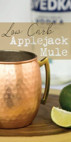 Our Apple Cider Moscow Mule is a low carb, spicy twist on the classic drink, perfect for fall time!