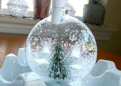 Winter Wonderland Snow Globe Ornaments