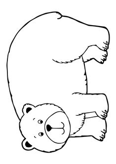 Coloring Page Bear Coloring Pages, Coloring Sheets, Bear Theme Preschool, Inspired Learning, Early Literacy, Learning Through Play, Creative Play, Zoo Animals, Brown Bear