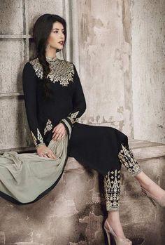 Black And Grey Jacket Style Designer Suit