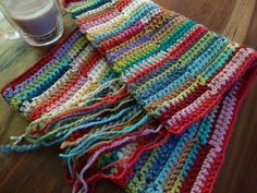 This shows a bit of the process for the ribbon afghan last pinned.