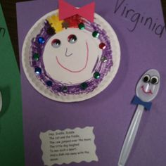 Dish ran away with the spoon craft for nursery rhyme unit for pre-k