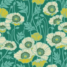 I may be moving towards teal. Who'd have thought? Joel Dewberry - Notting Hill - Pristine Poppy in Teal