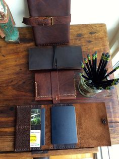 Leather passport holder handmade leather by LUSCIOUSLEATHERNYC