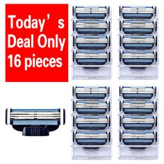 16 unids/lote maquinilla de Afeitar al por mayor hombres de Alta Calidad de Hojas de Afeitar Cuchillas de Afeitar Cuchillas de Afeitar para mache 3 Estándar para RU y la ue EE. UU.