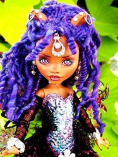 Clawdeen Monster High Custom Doll OOAK Fairy Repaint Makeover Dreadlocks FaceUp | eBay