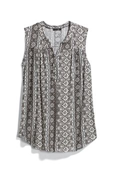 black and white summer top