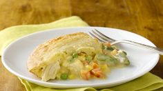 Enjoy homemade chicken pot pie taste made extra easy. Use whatever ingredients you have on hand!