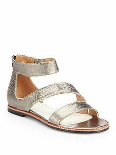 Maison Martin Margiela Brushed Metallic Leather Sandals