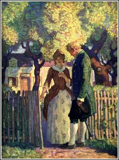 """'David and Catriona' From """"David Balfour"""" 1924 illustration by N.C. Wyeth by Plum leaves, via Flickr"""