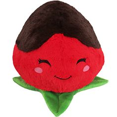 It's the Comfort Food Chocolate Strawberry! The perfect romantic cuddle buddy for that special Valentine's someone...or for yourself! Fruit is just better covered in chocolate goodness! #squishable #plush