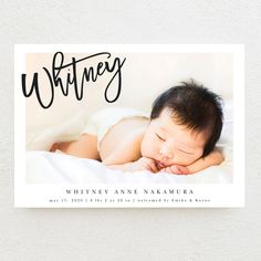 Let your loved ones know of your new bundle of joy with our Modern Slant Birth Announcements. Customize yours online today at Basic Invite! Bridal Party Invitations, Bat Mitzvah Invitations, First Birthday Invitations, Baby Shower Invitations, Custom Stationery, Baby Boy Or Girl, Save The Date Cards, Baby Shower Games, Wedding Trends