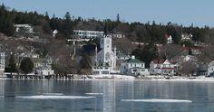 St. Anne's Church - Mackinac Island, Michigan in the winter