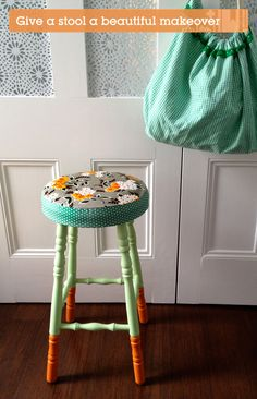 Give a boring old stool a beautiful makeover | Crafttuts+