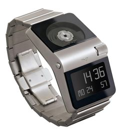 The Ventura Sparc MGS W51 Watch  isbit pricey (upwards of $5150). This Red Dot Award-winning timepiece relies on a MGS-11 Micro Generator System (contained in a sapphire crystal case so you can see it at work) for power, while a 12-digit liquid-crystal display shows the time, with LED backlight.