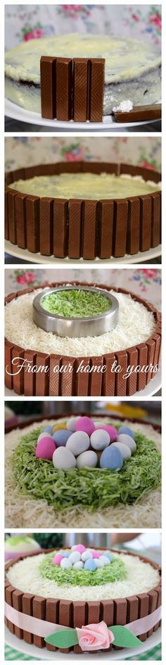 Receitas - From our home to yours - Português: Kit Kat Easter Cake - Bolo de Páscoa Kit Kat