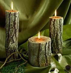 """Wood"" candles"