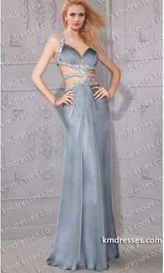 eye-catching Jeweled straps cutout open back floor length evening gown.prom dresses,formal dresses,ball gown,homecoming dresses,party dress,evening dresses,sequin dresses,cocktail dresses,graduation dresses,formal gowns,prom gown,evening gown.