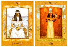 5-23-13 Thursday's Tarot: 2 OF SWORDS + MAGIC (Goddess Tarot) – Don't sweat it today if you find yourself going back and forth with a choice. By day's end, you may have a clearer idea of what you need to do.