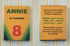 DIY: Crayon Box Invitation for a coloring birthday party! #birthday