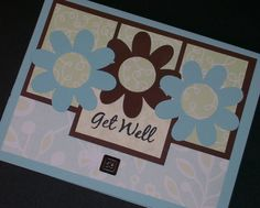 Get Well Card Handmade Greeting Card Stamped by Sassadoodle, $3.50