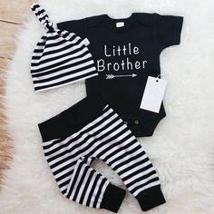 Little Brother Outfit Take Home Baby Boy Outfit Newborn Set Baby Boy Outfit Newborn Boy Clothes Baby Shower Gift Photo Prop Cute Newborn Baby Boy, Baby Boy Swag, Newborn Boy Clothes, Baby Boy Romper, Newborn Outfits, Toddler Outfits, Baby Boy Outfits, Baby Boys, Going Home Outfit