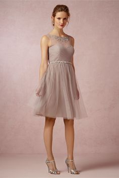 Chloe Dress from BHLDN How cute would my bridesmaids be in this, me in off white and Navy accent color!