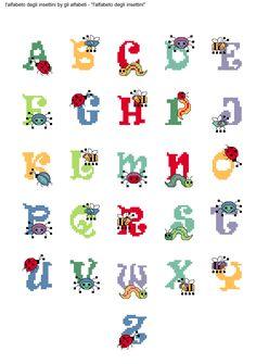 alfabeto degli insettini