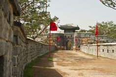 "Hwaseong Fortress: South Korea's ""Great Wall"" - built around Hwaseong Haenggung palace from the Joseon Dynasty in the center of Suwon, just outside of Seoul"