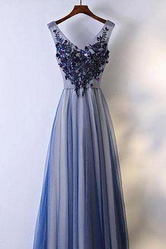 Prom Dresses Blue #PromDressesBlue, Prom Dresses 2019 #PromDresses2019, Custom Prom Dresses #CustomPromDresses