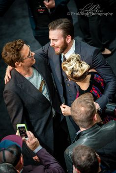 https://flic.kr/p/squgKq | Robert Downey Jr, Chris Evans & Scarlett Johansson | Avengers: Age of Ultron Westfield, London UK © Copyright 2015 Paul Bird All rights reserved