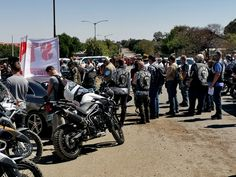 Dogs of War members at the bail hearing for two suspects in the brutal farm murder of Brendin Horner Military Veterans, Bikers, South Africa, War, Dogs, Pet Dogs, Dog, Doggies