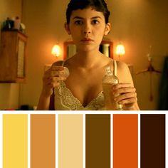 Movie Color Palette, Colour Pallette, Light Cinema, Cinema Colours, Color In Film, Amelie, Carrousel, Color Script, Nerd