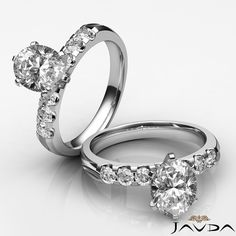 Oval Diamond Glistening Pre-Set Engagement Ring GIA F SI1 14k White Gold 1.31 ct