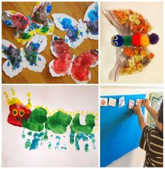"""V is for """"Very Hungry Caterpillar""""-- fun times learning about the butterfly life-cycle!"""