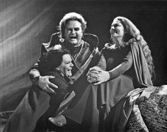Uncharacteristic jollity on the Tristan set for Jon Vickers with Roberta Knie, right, Isolde, and Maureen Forrester, Brangane. It was a wonderful and unusual time, says Ms. Knie of the 1975 Montreal production. (Photo courtesy Richard Bocking).