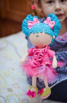Ganchillo patrón muñeca con racimos por magicfilament en Etsy