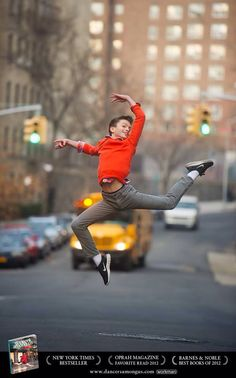 Every child should be as excited as 11-year-old Dancer Among Us Adam Littman Davis is to catch the school bus in Washington Heights, NYC.