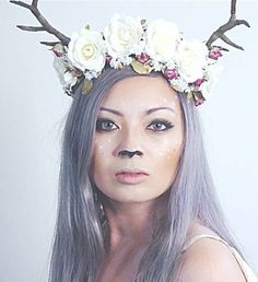 16 Deer Makeup And Antler Ideas For The Cutest Halloween Costume Deer Halloween Costumes, Cute Halloween Makeup, Turtle Costumes, Christmas Costumes, Halloween Kostüm, Couple Halloween, Diy Costumes, Costumes For Women, Costume Ideas