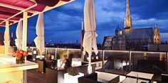 Welcome to Café Bar Bloom – Official Website! Enjoy a drink or a delicious meal in our centrally located rooftop bar & restaurant in Vienna! Boutique Hotels, Vienna Cafe, Beste Hotels, Café Bar, House Restaurant, Rooftop Terrace, Nice View, Budapest, 1