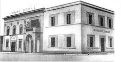 Da sinistra: Cinema-Teatro Vittorio Veneto; Casa del Fascio e Casa della GIL (Gioventù Italiana del Littorio). Quest'ultimo edificio fu costruito nel 1939 per la gioventù fascista - Foto del 1940.