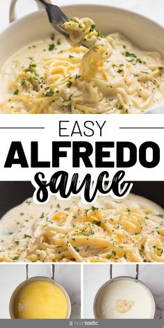 This homemade Alfredo sauce recipe is very easy to make, if you love Olive Garden then you'll love this version! keto, low carb, gluten free. www.noshtastic.com