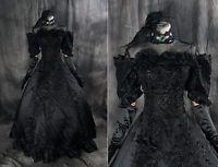a-277 S/M/L/XL/XXL Miku Cosplay Kostüm Gothic Victorian schwarz dress Kleid