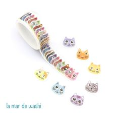 this washi to another of my bf who loves cats Stationary Store, Stationary Items, Stationary Supplies, Stationary School, Cute Stationary, School Stationery, Kawaii Stationery, School Equipment, Cool School Supplies