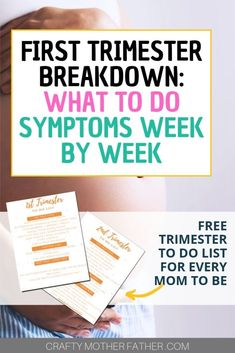 First trimester do's and don'ts as well as week by week symptoms to expect during the first trimester, when to announce your pregnancy and the best tips for expecting moms in the first trimester Pregnancy Acne, High Risk Pregnancy, Pregnancy Must Haves, All About Pregnancy, Pregnancy Guide, Pregnancy Workout, Fall Pregnancy, Pregnancy Belly, Pregnancy Fashion