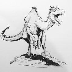 So like I am super excited for Jurassic World! #jurassicworld #dinosaurs #ink #sketch #sketchaday #sketchtillyouwretch #oodlesofdoodles #doodle #brushpen