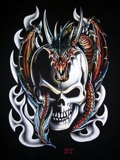 Skull and Dragon