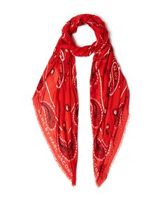 Marc by Marc Jacobs Red William Paisley Scarf